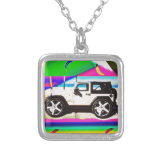 Time to Drive Silver Plated Necklace