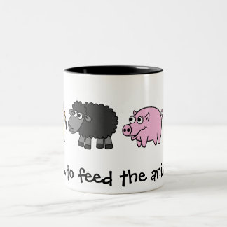 Time to feed the animals! Virtual Farmers Coffee Mug