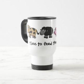 Time to feed the animals! Virtual Farmers Travel Mug
