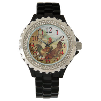 Time To Feed The Chickens Wrist Watch. Watch