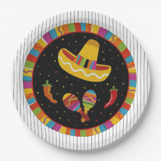 Time To Fiesta HHM Party Paper Plates