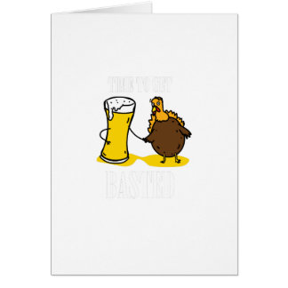 Time To Get Basted Turkey Thanksgiving Funny Card