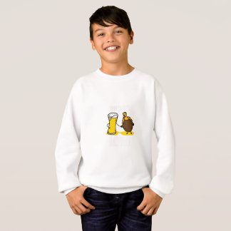 Time To Get Basted Turkey Thanksgiving Funny Sweatshirt