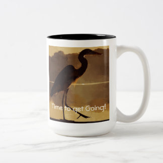 """Time to get Going!"" Two-Tone Coffee Mug"