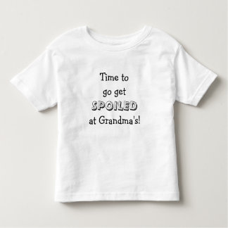 Time to get Spoiled at Grandmas! Kids Shirt
