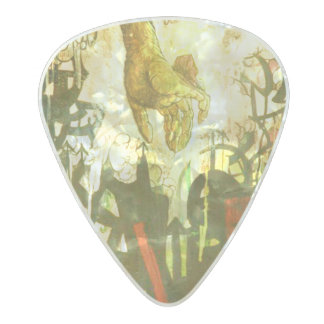 """Time to Go"" custom guitar picks by Clayton"
