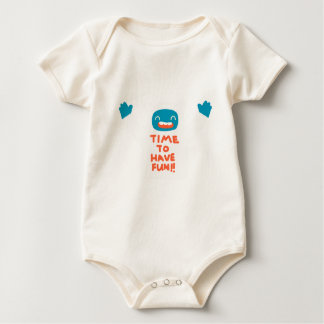 Time to have fun! baby bodysuit