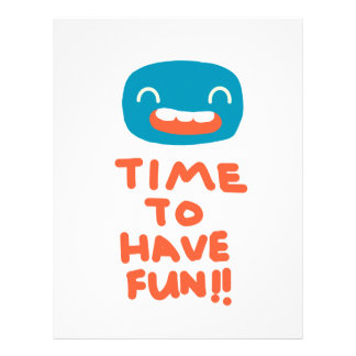 Time to have fun! letterhead