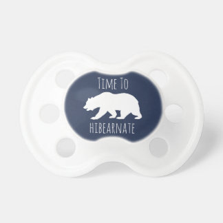 Time To Hibearnate Polar Bear Pacifier