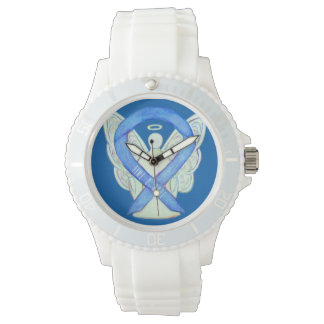 Time to Hope Blue Awareness Ribbon Custom Watch