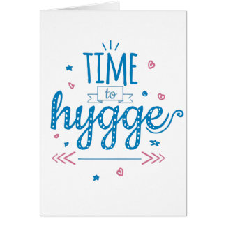 time to hygge card