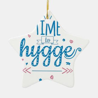 time to hygge ceramic ornament