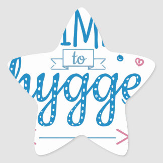time to hygge star sticker