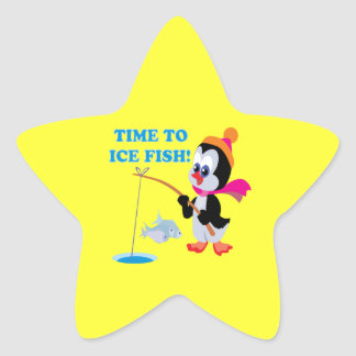 Time To Ice Fish Star Sticker