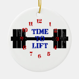 Time To Lift Ceramic Ornament
