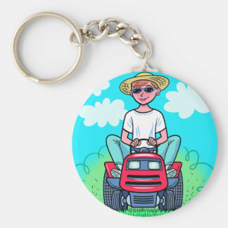 TIme to Mow Basic Round Button Keychain