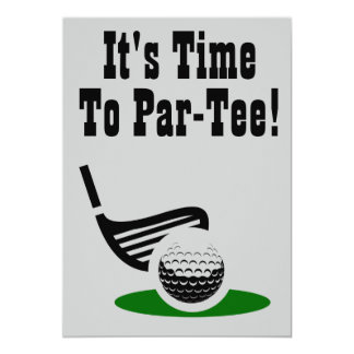 Time To Par-Tee Golf Bachelor Party Invite