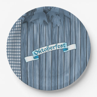 Time To Party Oktoberfest Party Paper Plates 9 Inch Paper Plate