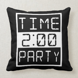 Time to Party Throw Pillow