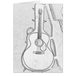 Time to Play Acoustic Guitar Greeting Card
