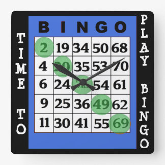Time to Play Bingo Wall Clock