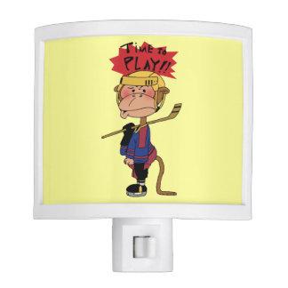 Time to play!! ( ice hockey monkey ) nite light