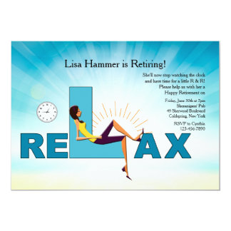 Time To Relax Retirement Party Invitation