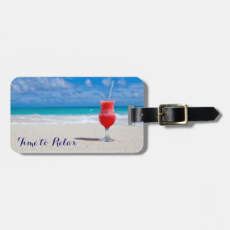Time to Relax Tropical Drink Travel Bag Tags