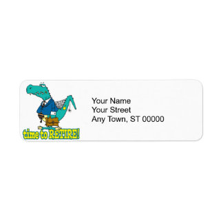 time to retire old working dinosaur return address label