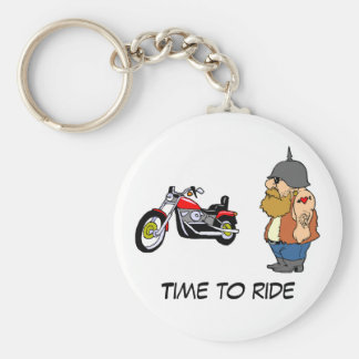 Time To Ride Basic Round Button Keychain