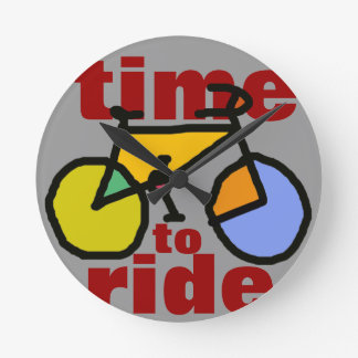 time to ride ~ bike round clock