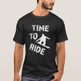 Time to Ride funny men's snowboarding T-shirt