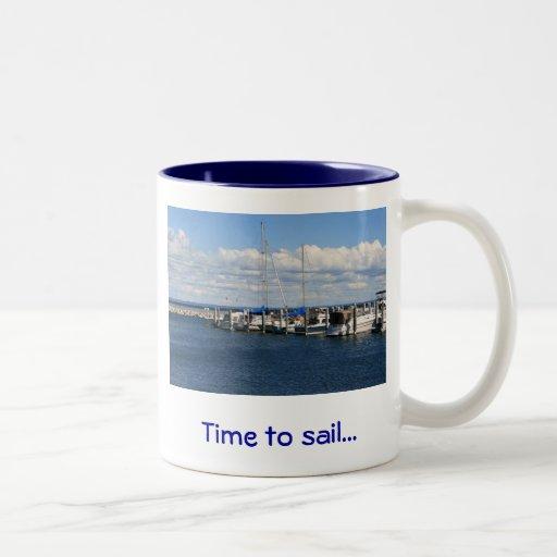 Time to sail... coffee mug