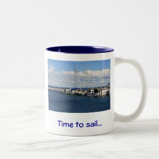 Time to sail... Two-Tone mug