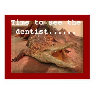 Time to see the dentist.... postcard