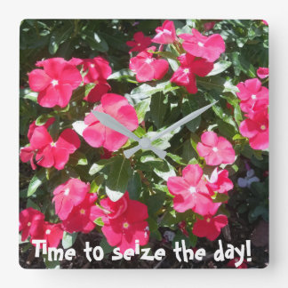 Time to seize the day Cute Floral Print Wall Clock