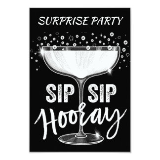 TIME TO SIP SIP HOORAY **ADULT SURPRISE PARTY** CARD