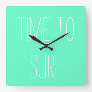"""Time to Surf"" Wall Clock"