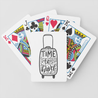 Time To Travel Bicycle Playing Cards