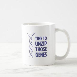 Time To Unzip Those Genetic Genes Coffee Mug