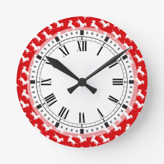 Time to Walk the Dachshund Custom Color Round Clock