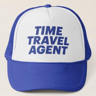 TIME TRAVEL AGENT fun slogan trucker hat