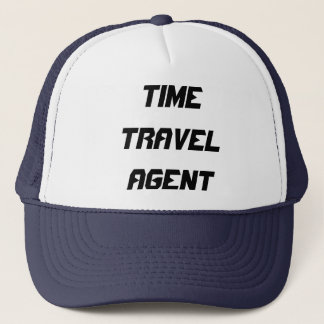 TIME TRAVEL AGENT TRUCKER HAT