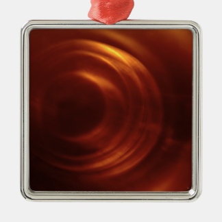Time Traveller's Orange Vortex Metal Ornament