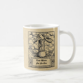 """Time Waits For No One"" Personalized Coffee Mug"