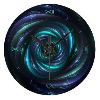 Time Warp Digital Art Wall Clock