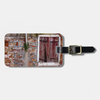 Time Weathered Window Luggage Tag