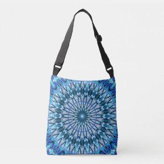 Time Wheel Mandala (blue) Crossbody Bag