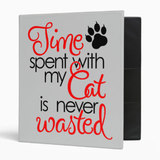 TIme With Cat 3 Ring Binder