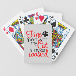 TIme With Cat Bicycle Playing Cards